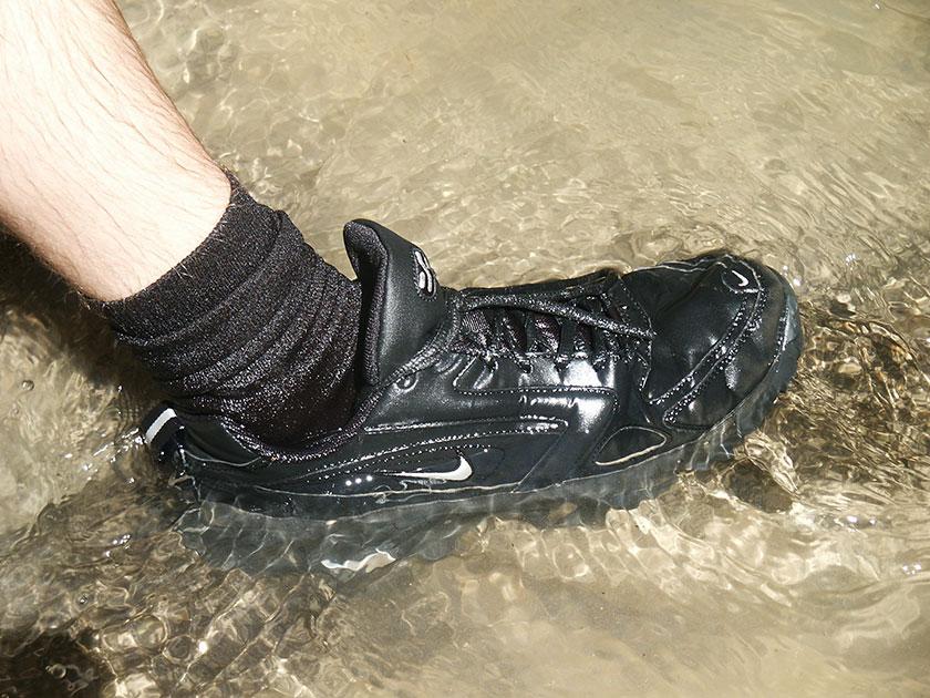 Festes Schuhzeug sollte selbstverständlich sein