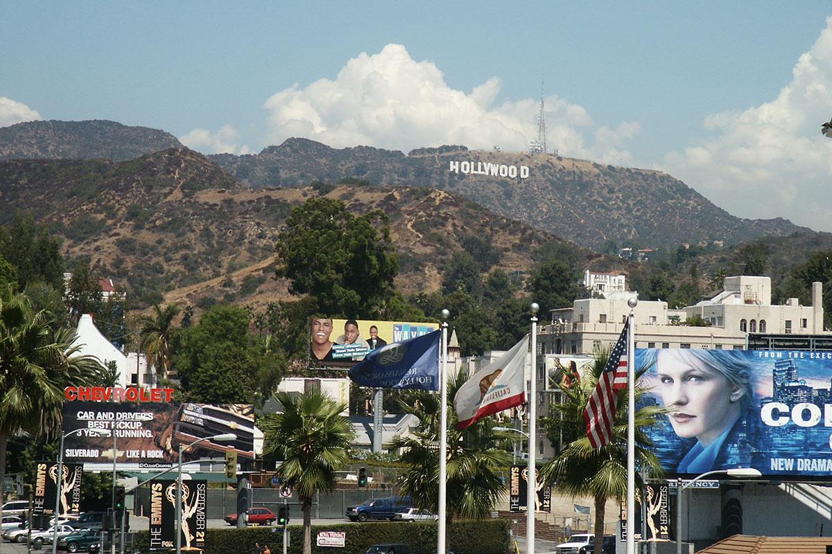 Der Schriftzug in den Hollywood Hills