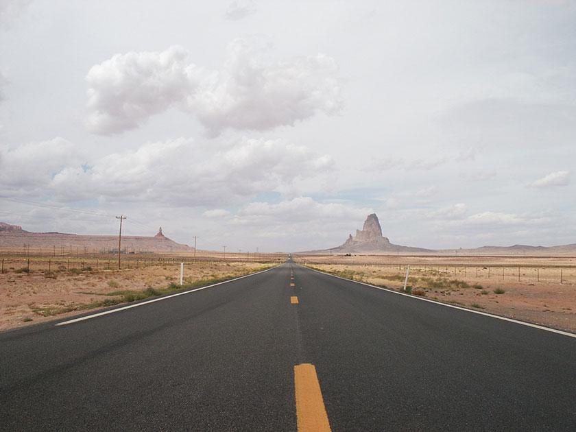 Die Straße zum Monument Valley