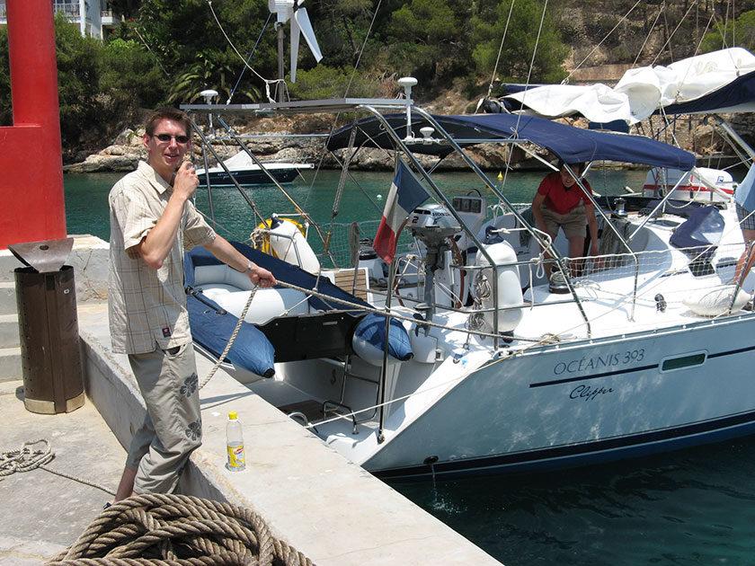 Gunnar hat in Cala Figuera einen ganz großen Fang gemacht