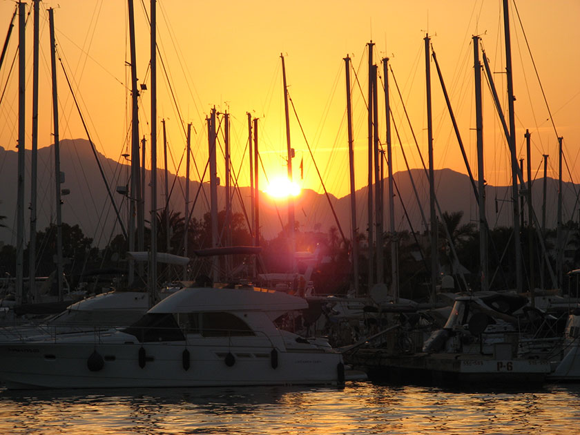Sunset im Port d'Alcudia