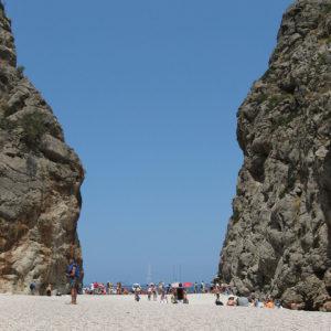 Der Strand von Torrent de Pareis