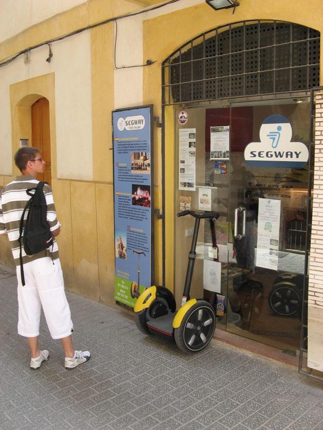 Eigentlich schade, dass wir es nicht doch gemacht haben: eine Segway-Vermietung in Palma