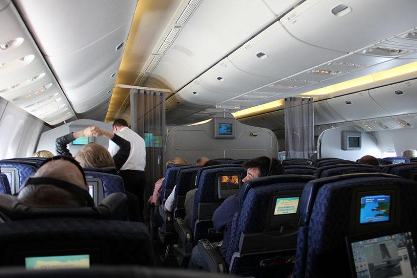Das erste Mal in einer Boeing 777