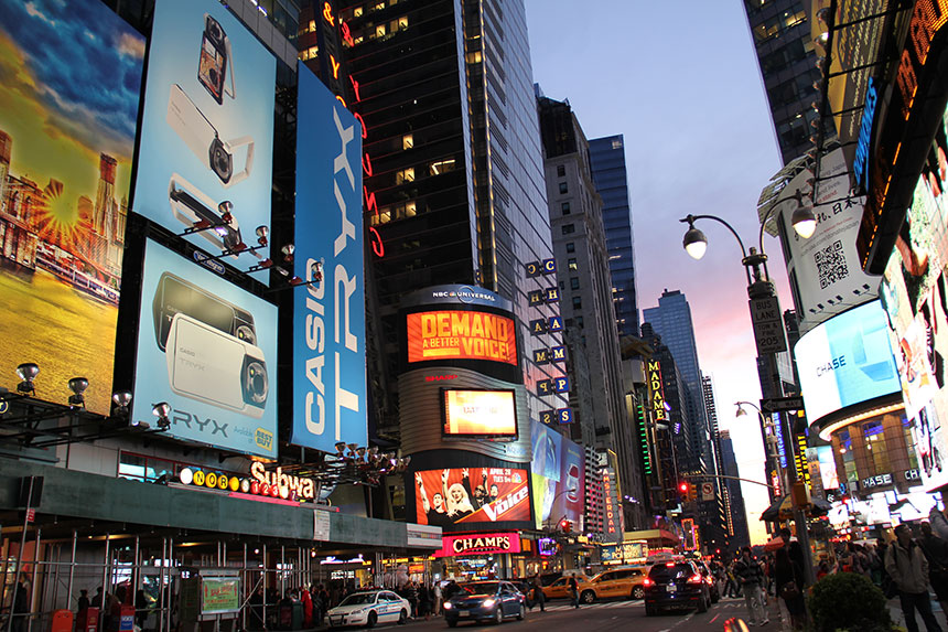 Time Square am Abend