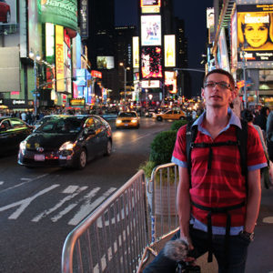 Ein müder Gunnar am Time Square