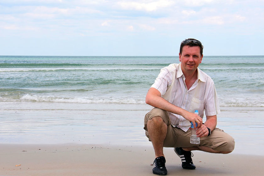 Holger am Daytona Beach (Florida)