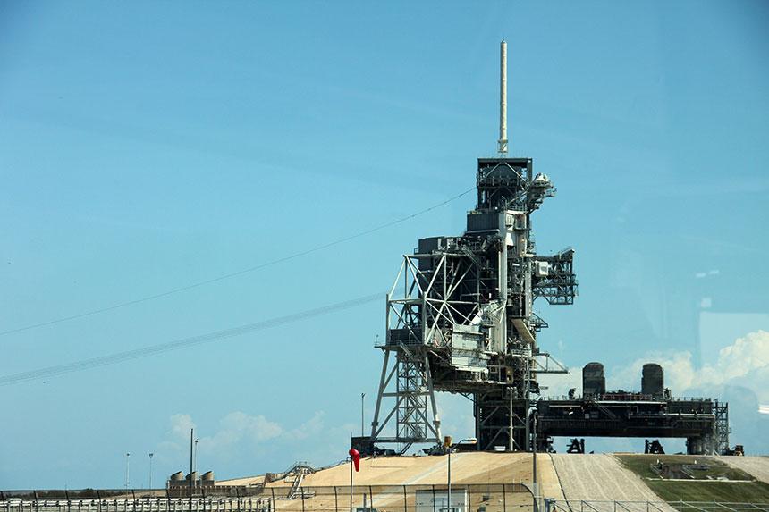 John F. Kennedy Space Center - Die Space Shuttle Startrampe