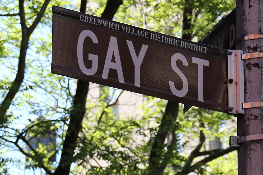 Die Gay Street im Greenwich Village District