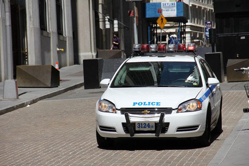 Sehr viel Polizei im Financial District