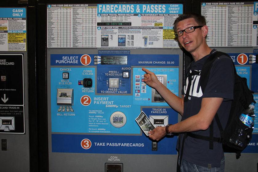 Fahrkartenautomat für die U-Bahn in Washington DC