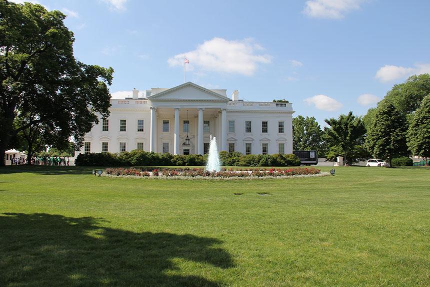 Vorderseite des Weißen Hauses