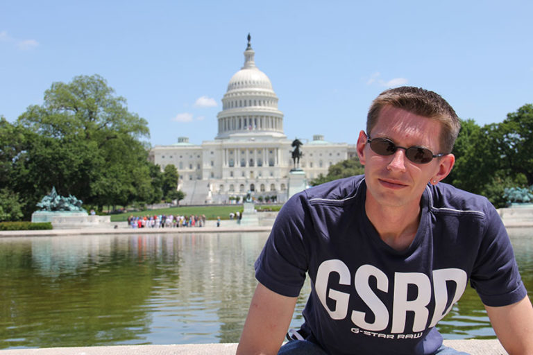 Gunnar vor dem Capitol
