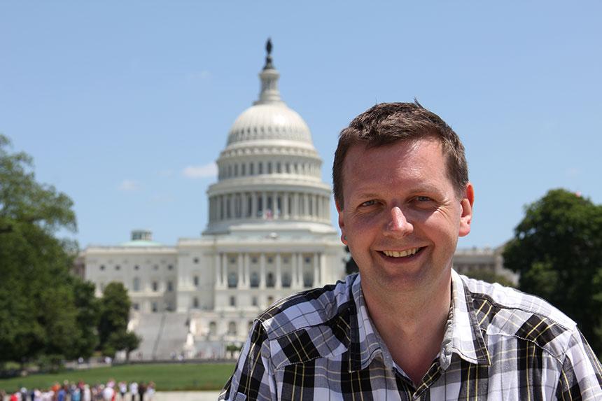 Holger vor dem Capitol
