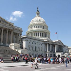 Auch am Capitol: Menschenmassen