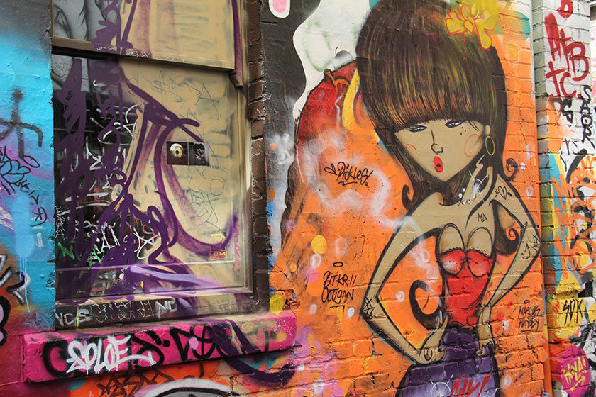 Graffitis in der Hosier Lane