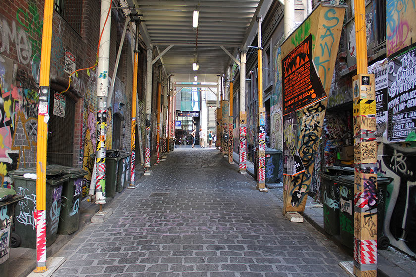 Graffitis in der Hosier Lane