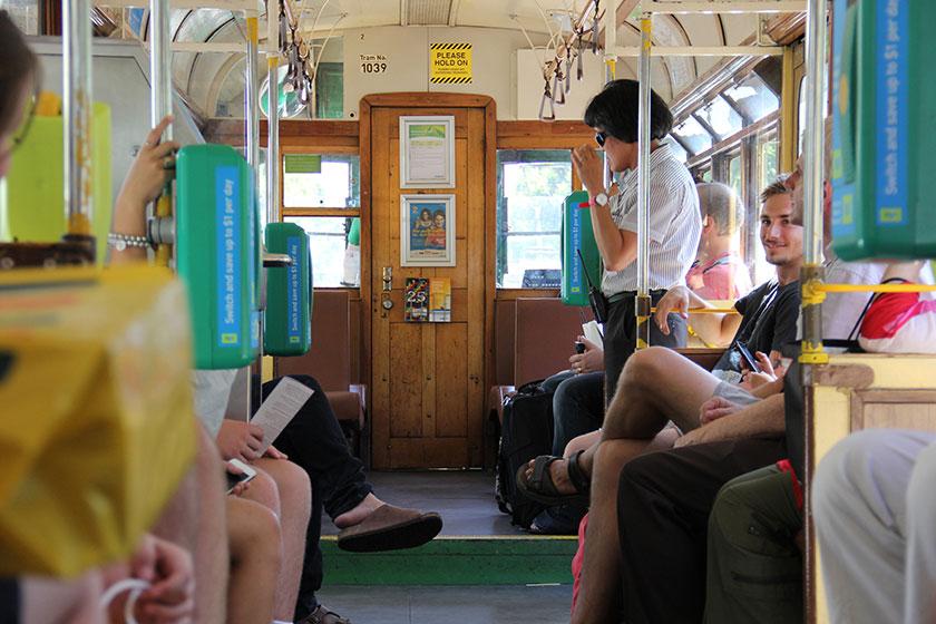 In der City Circle Tram