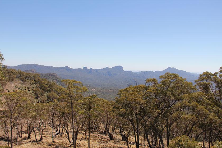 Ausblick vom Siding-Spring-Observatorium