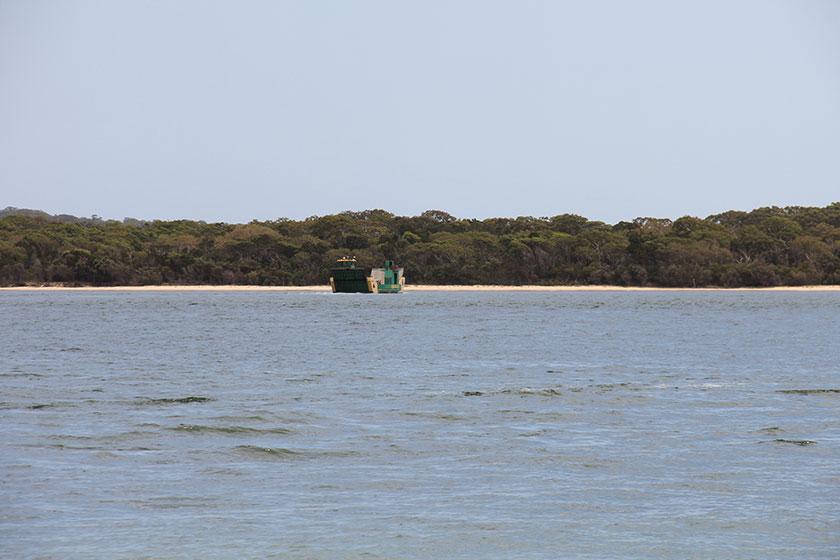 Die Fähre nach Fraser Island