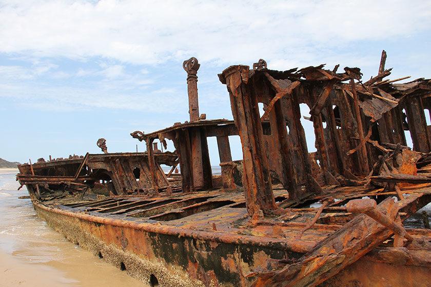 Das Wrack der Maheno auf Fraser Island
