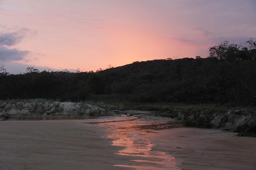 Sonnenuntergang auf Fraser Island