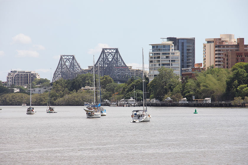Brisbane-River und Story Bridge