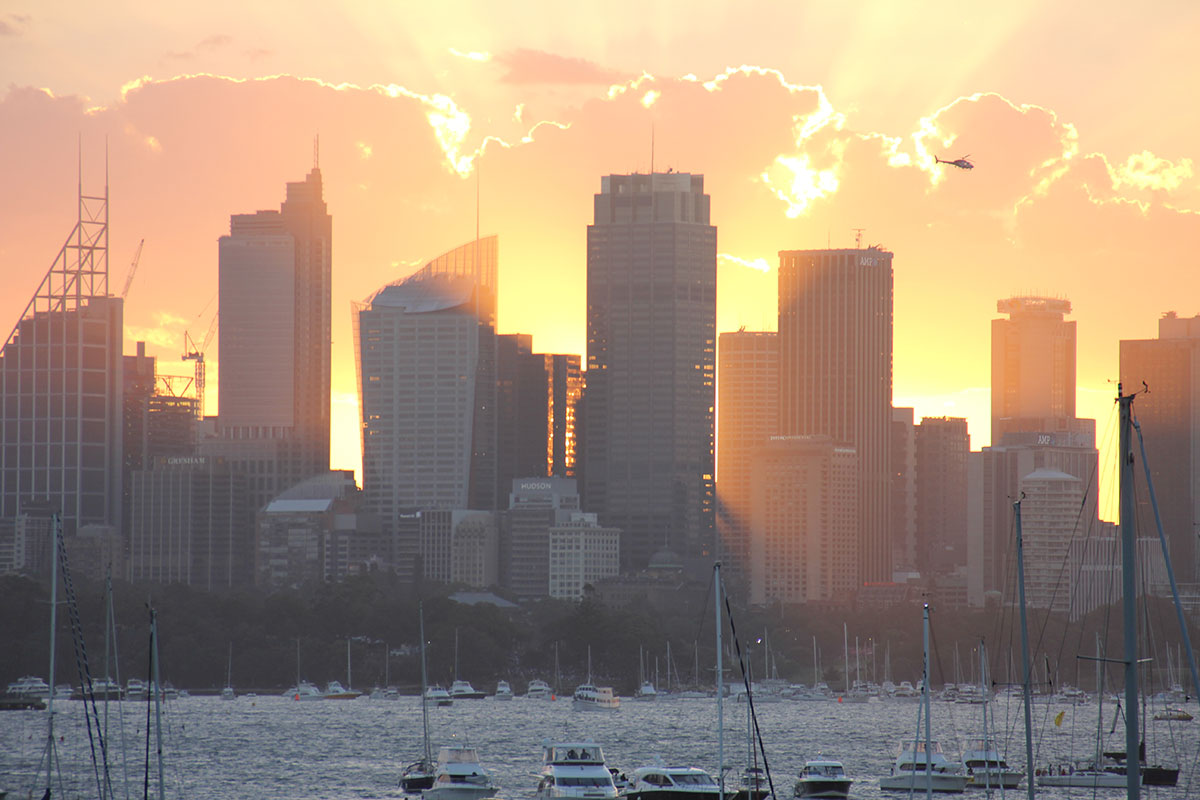 Sonnenuntergang in Sydney