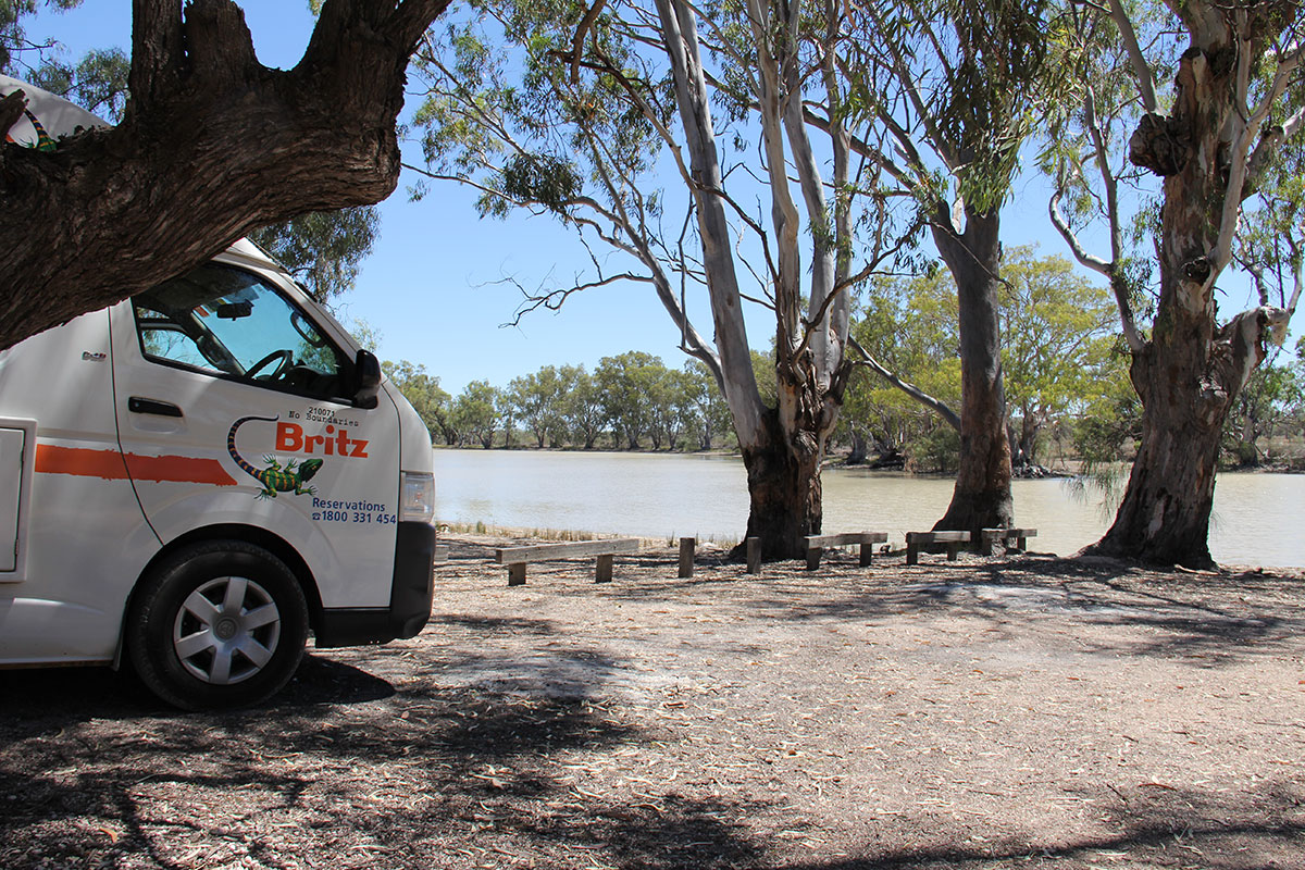 Pause am Murray River