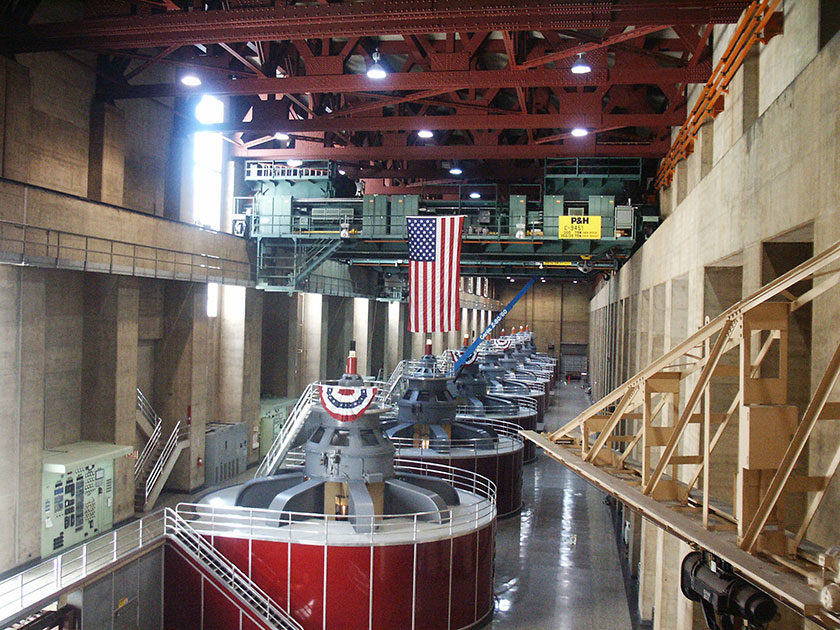 Das Maschinenbaus des Hoover Damms
