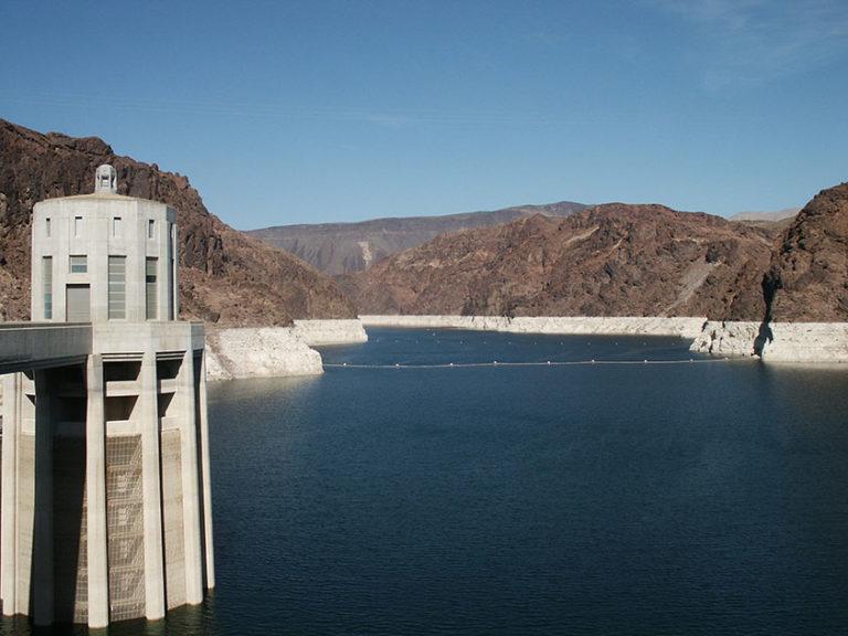 Der vom Hoover Damm aufgestaute Lake Mead