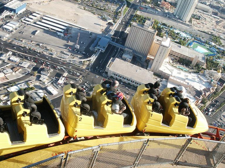 Die Achterbahn auf dem Stratosphere Tower