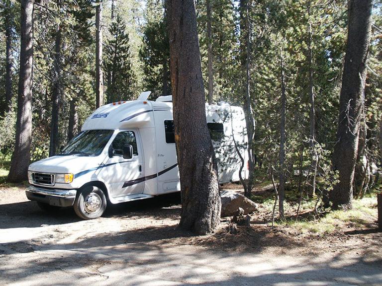 Unser Stellplatz am White Wolf Campground