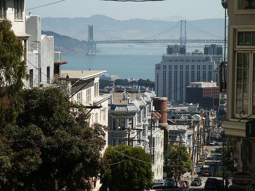 San Francisco mit Golden Gate Bridge