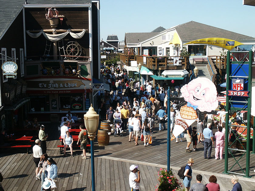Pier 39 in der Fisherman's Wharf