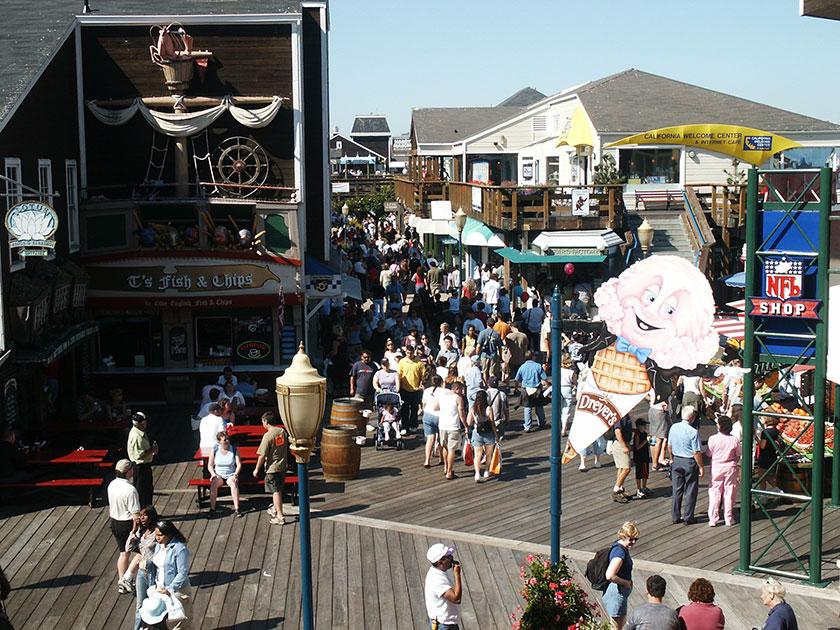 Pier 39 in der Fisherman's Wharf