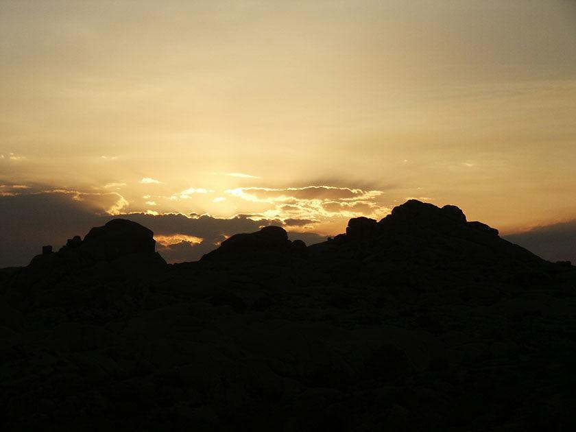 Sonnenuntergang im Joshua Tree N.P.