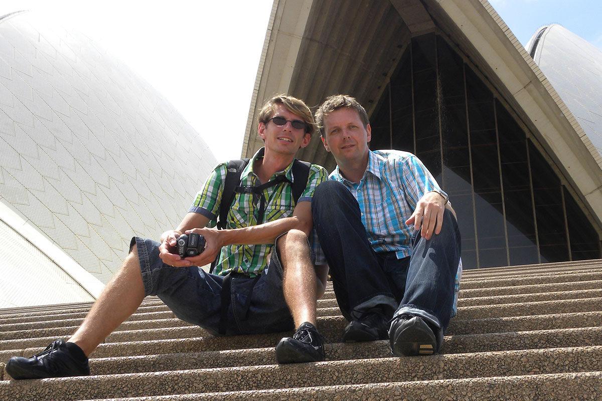 Gunnar & Holger 2010 vor der Sydney Oper
