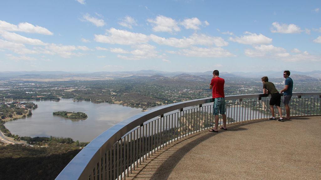Auf dem Telstra Tower in Canberra