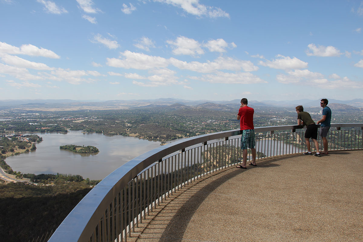 Auf dem Telstra Tower in Canberra