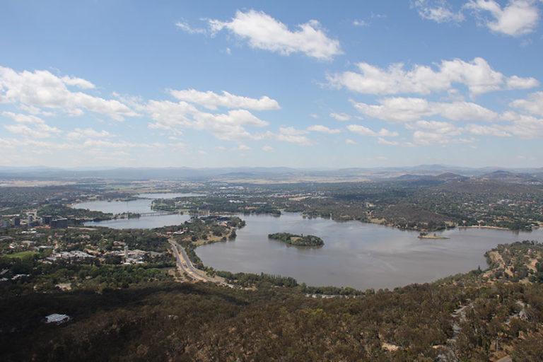 Gute Aussicht vom Telstra Tower in Canberra
