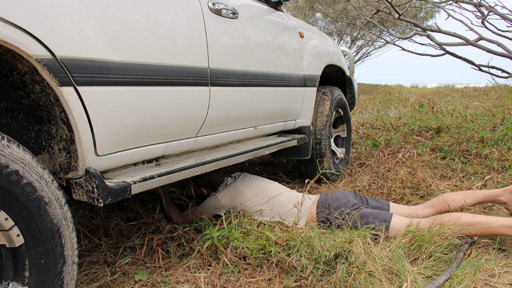 Kleiner Reparaturen an Geländewagen sind kein Problem für Gunnar