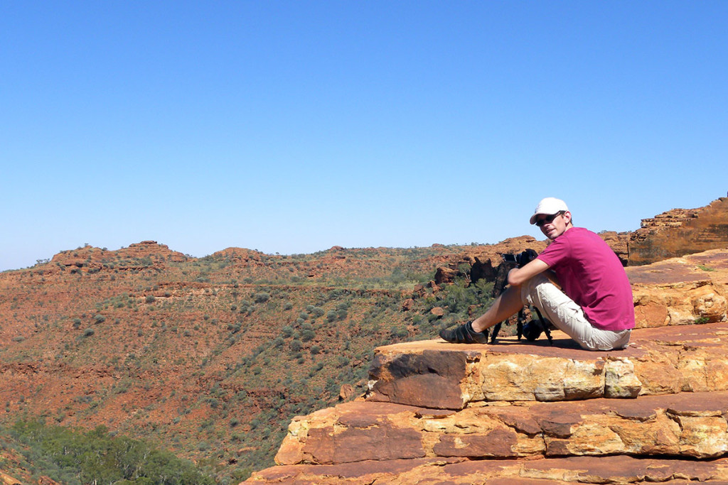 Gunnar 2010 im Kings Canyon in Australien