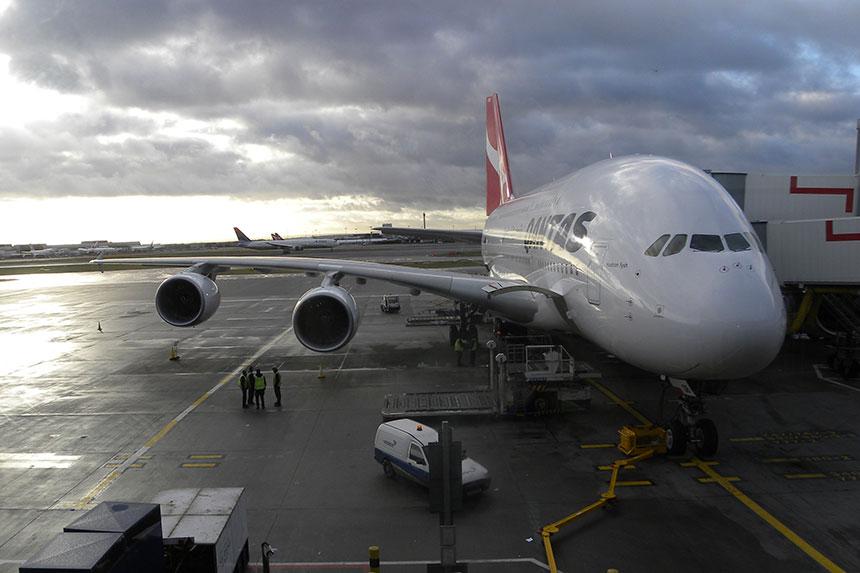 Unser A380 nach Sydney