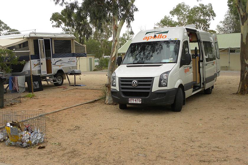 Campingplatz irgendwo im Outback