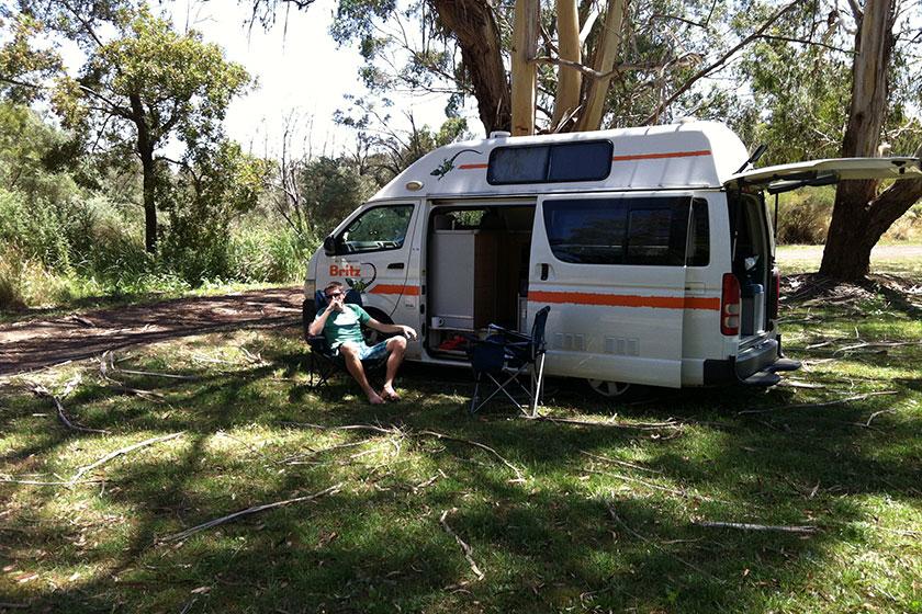 Kein Campingplatz, nur eine kurze Pause