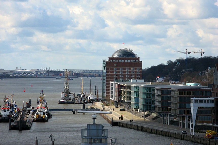 Ausblick vom Dockland