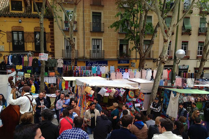 Straßenmarkt El Rastro