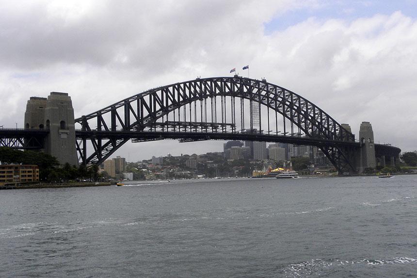 Die Sydney Harbour Bridge am Tag unseres Climbs