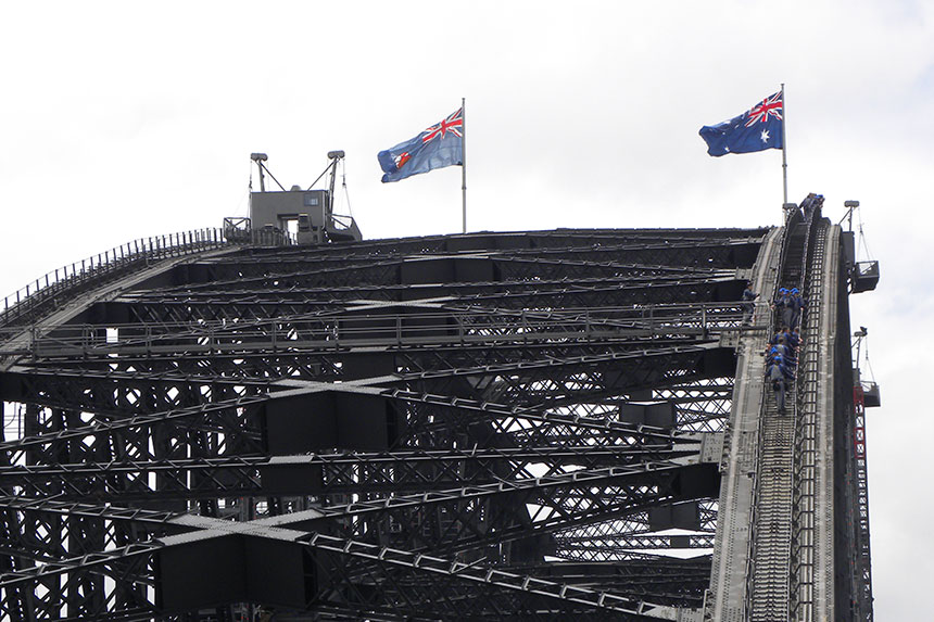 Kletterer auf der Harbour Bridge